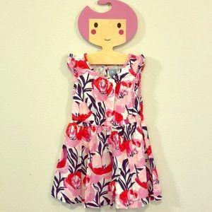 EUC 3 Years Gap Floral Ruffle Cap Sleeve Dress!